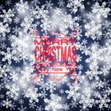 Christmas background. Snowflakes with a focusing effect. A template for the design. Eps 10 Stock Photos
