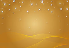 Christmas background with snowflakes. In golden colored scenery Royalty Free Stock Photo