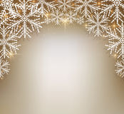 Christmas background with snowflakes. Royalty Free Stock Photo