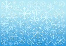 Christmas background with snowflakes made of words Stock Image