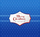 Christmas background with snowflakes and Merry Christmas label. Royalty Free Stock Photos