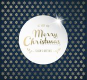 Christmas background with snowflakes and Merry Christmas label. Royalty Free Stock Image