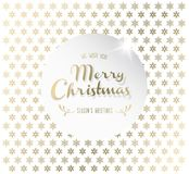Christmas background with snowflakes and Merry Christmas label. Stock Photography