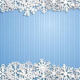 Christmas background of snowflakes Stock Images