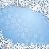 Christmas background of snowflakes Royalty Free Stock Photos