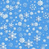Christmas background of snowflakes . Stock Image