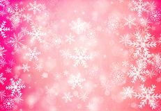 Christmas background with snowflakes. Stock Photography