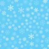 Christmas background of snowflakes. For posters, postcards, greeting for holiday, party, celebration, new year. Stock Image