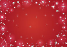 Christmas background with snowflakes. In red colored scenery Royalty Free Stock Photos