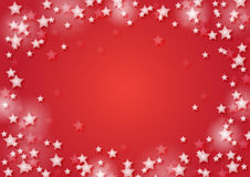 Christmas background with snowflakes. In red colored scenery Stock Photos