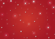 Christmas background with snowflakes. In red colored scenery Stock Photography