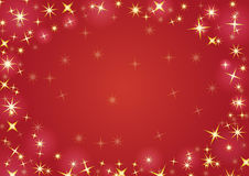 Christmas background with snowflakes. In red colored scenery Stock Photo