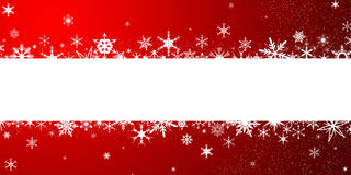 Christmas background with snowflakes. Red Christmas background with snowflakes, Christmas frame royalty free illustration