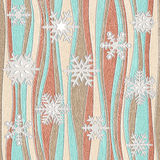Christmas background with snowflakes - seamless background Stock Photo