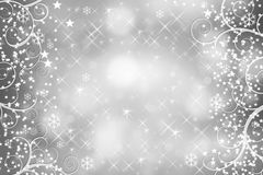 Christmas background with snowflakes. Stock Images