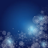 Christmas background with snowflakes and space for text. Vector Royalty Free Stock Image
