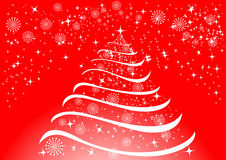 Christmas background with snowflakes and stars royalty free stock images