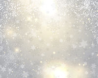 Christmas background with snowflakes and stars. Decorative Christmas background with snowflakes and stars Stock Illustration