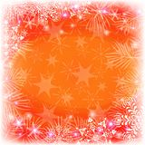 Christmas background with snowflakes and stars Stock Photography