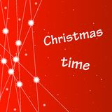 Christmas background with snowflakes and stars. Royalty Free Stock Photos