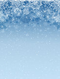 christmas background with snowflakes and stars, vector stock images