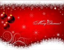 Christmas background with snowflakes Stock Photos