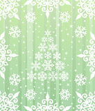 Christmas background. Snowflakes and christmas tree. Christmas theme. Happy new year. Vector illustration Royalty Free Stock Photo