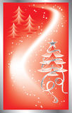 Christmas background with a snowflakes, vector vector illustration