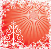 Christmas background with a snowflakes, vector Royalty Free Stock Image