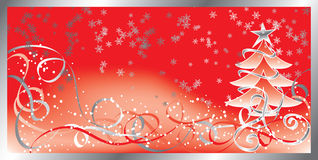 Christmas background with a snowflakes, vector stock illustration