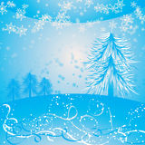 Christmas background with a snowflakes, vector Royalty Free Stock Images
