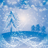 Christmas background with a snowflakes, vector Stock Photos