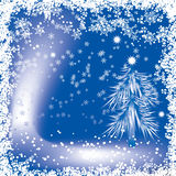 Christmas background with a snowflakes, vector Stock Images
