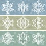 Christmas background with snowflakes, vector Stock Photos