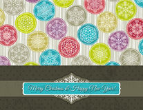 Christmas background with snowflakes, vector Royalty Free Stock Image