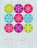 Christmas background with snowflakes, vector Stock Images