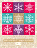 Christmas background with snowflakes, vector Royalty Free Stock Photography