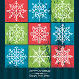 Christmas background with snowflakes, vector Stock Photography