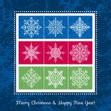 Christmas background with snowflakes, vector Royalty Free Stock Photo