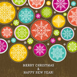 Christmas background with snowflakes, vector Stock Image