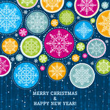 Christmas background with snowflakes, vector Stock Photo