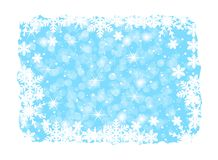 Christmas background with snowflakes Stock Photos