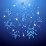 Christmas background with snowflakes. Royalty Free Stock Photography