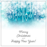 Christmas background with snowflakes. For web or print royalty free illustration