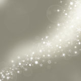 Christmas  background with snowflakes in winter Royalty Free Stock Photos