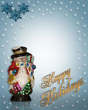 Christmas Background Snowman Royalty Free Stock Photography
