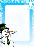 Christmas Background - Snowman. Snowman Design Surrounded by Snowflakes royalty free illustration