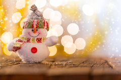 Christmas background with snowman Stock Photo