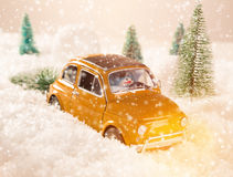 Christmas background with snowman Stock Photography