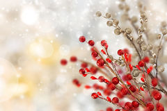 Christmas background with snowman. And falling snow Royalty Free Stock Images